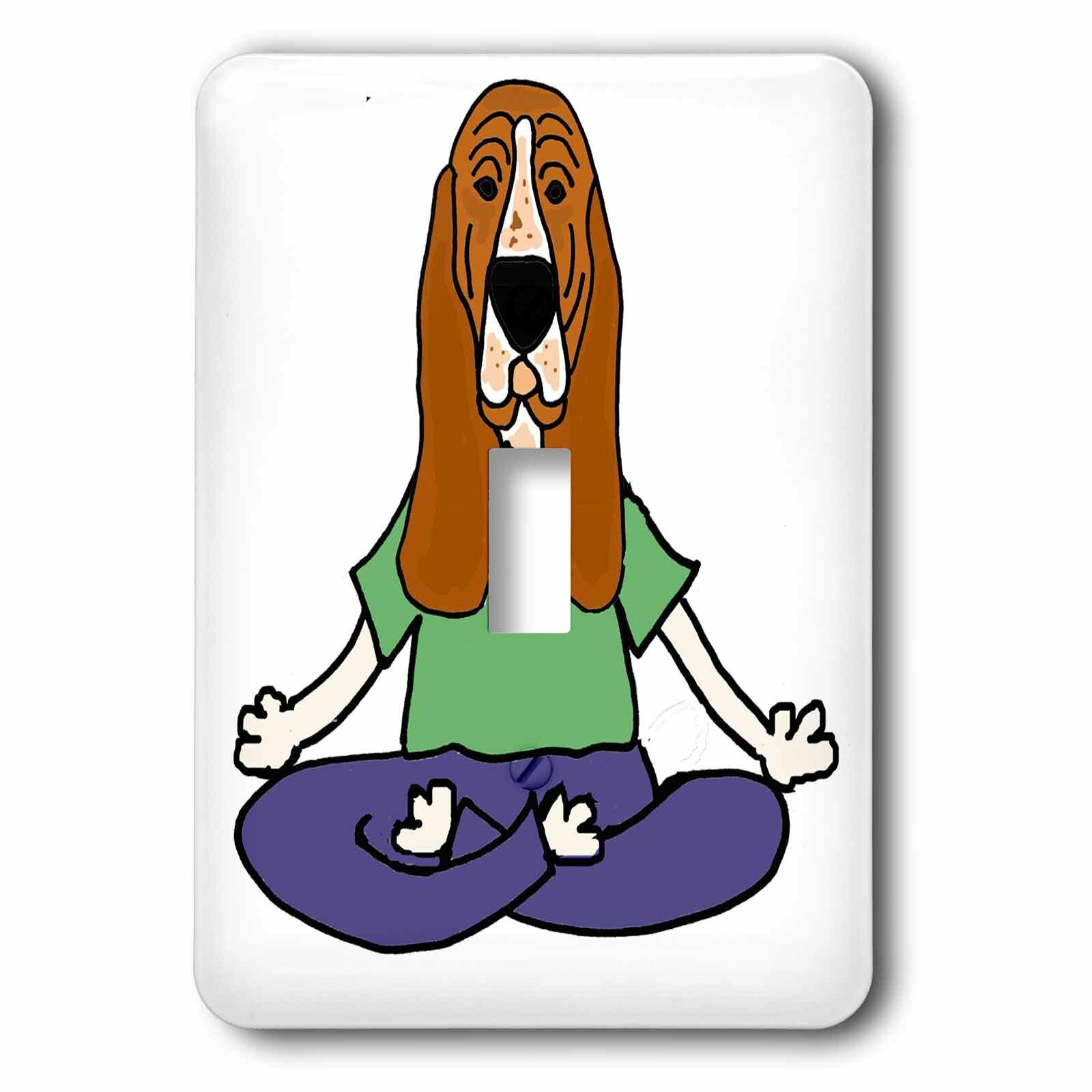 3drose Basset Hound Dog Yoga 1 Gang Toggle Light Switch Wall Plate Wayfair