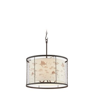 Breakwater Bay Villasenor 5-Light Drum Pendant