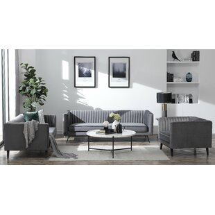 Price comparison Yorkshire 3 Piece Living Room Set by Everly Quinn Reviews (2019) & Buyer's Guide