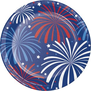 Patriotic Paper Appetizer Plate (Set of 24)