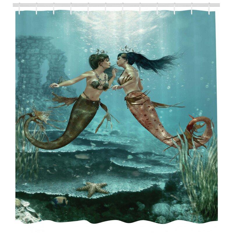 Set of 12 Cute Mermaid Shower Curtain Hooks