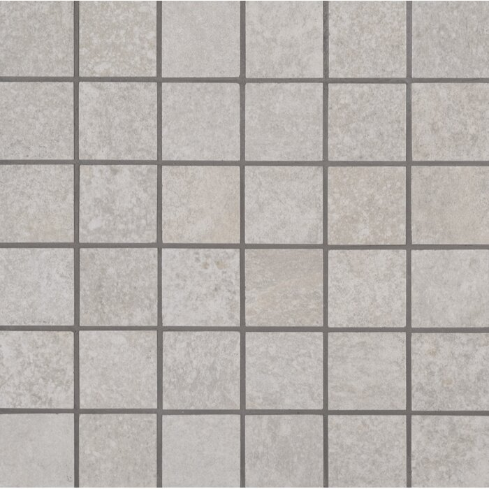 Brixstyle Blanco 2 X Porcelain Mosaic Tile In White
