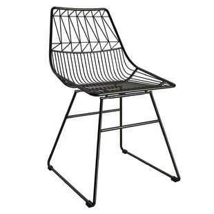 Astrid Wire Metal Slat Back Side Chair