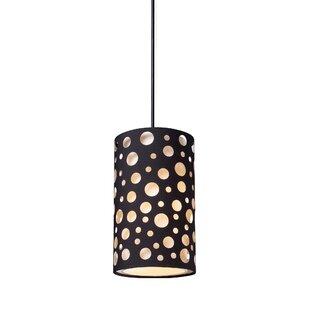 Mitcham 1-Light Cylinder Pendant by Ebern Designs