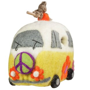 Global Crafts Magic Bus Felt 9 in x 7 in x 4 in Birdhouse