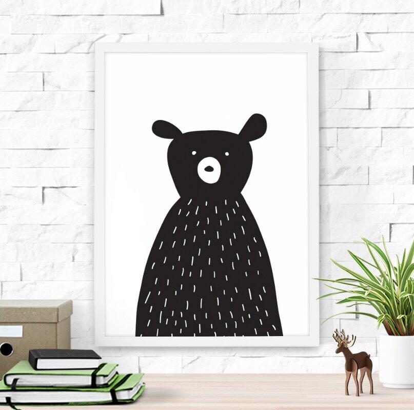 Cute Bear Framed Art & Reviews   AllModern