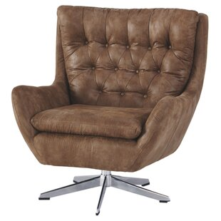 Williston Forge Hysley Swivel Armchair