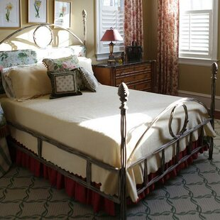 Queen Upholstered Four Poster Bed by Corsican