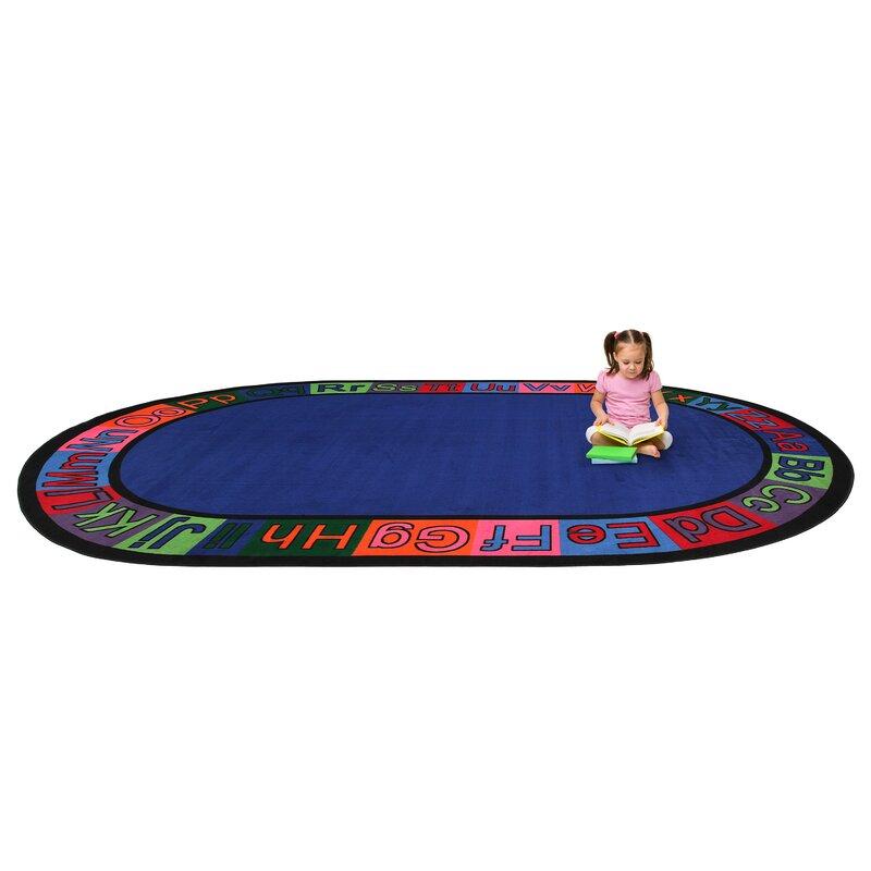 Kid Carpet Alpha Circle Time Abc Blue