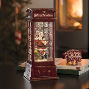 Review Warm White Santa In A Telephone Box Lamp