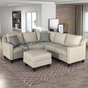 Aarah 84 Symmetrical Corner Sectional with Ottoman by Red Barrel Studio