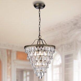 House of Hampton Totnes 4-Light Crystal Chandelier
