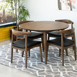 Keown 5 Piece Solid Wood Dining Set