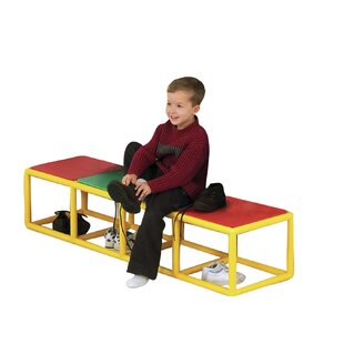 Coupon 4 Section Dressing Kids Bench ByChildren's Factory