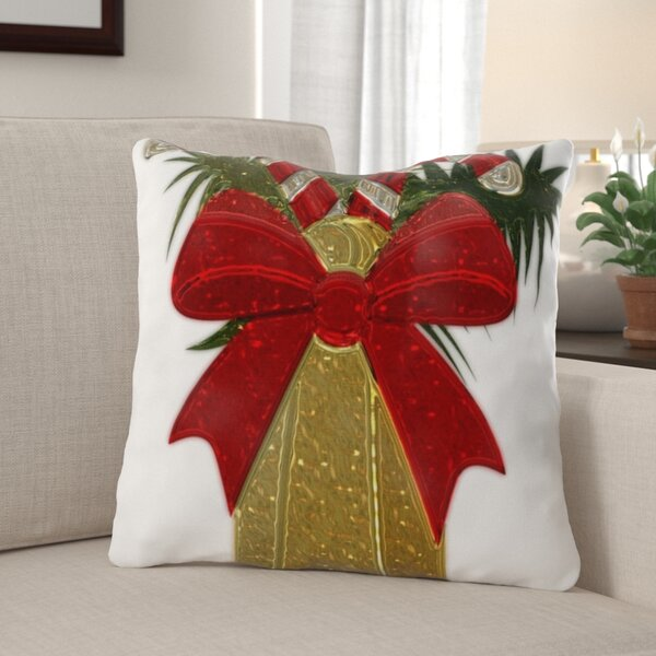 The Holiday Aisle Hershel Christmas Indoor Outdoor Canvas Throw Pillow Wayfair