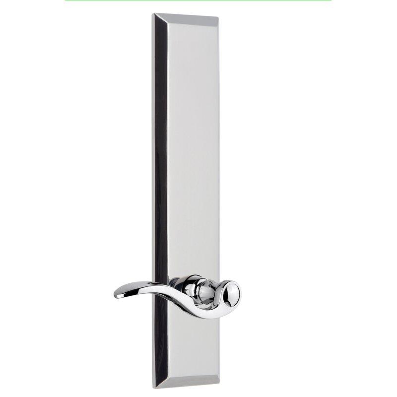 Grandeur Bellagio Double Dummy Door Lever With Fifth Avenue Long Plate Wayfair