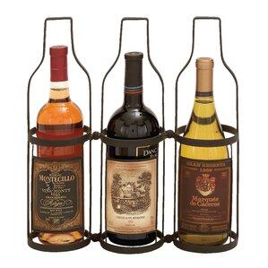 Metal 3 Bottle Tabletop Wine Bottle Rack ..