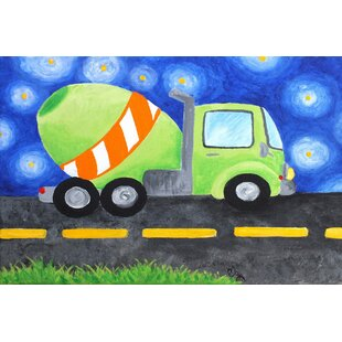 Cement Mixer by Nicola Joyner Painting Print Canvas Art by East Urban Home