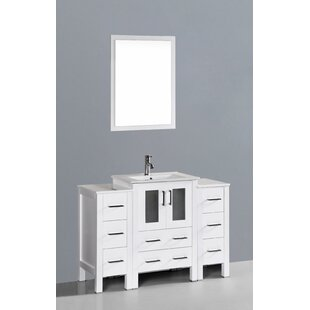 Templeton 49 Single Bathroom Vanity Set with Mirror by Bosconi
