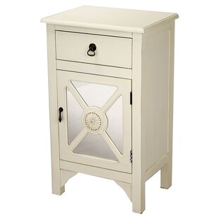 Corena Wooden Accent Cabinet with Mirror Insert