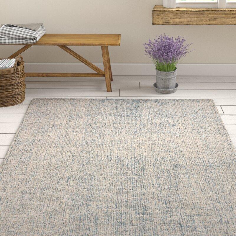 Gracie Oaks Pepin Hand Tufted Wool Gray Area Rug Reviews Wayfair