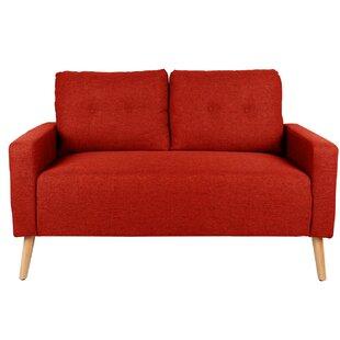 Koenig Mid Century Modern Upholstered Loveseat