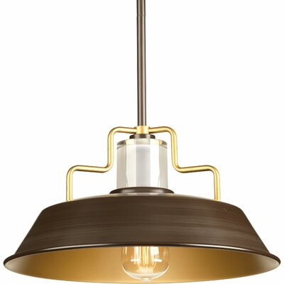 17 Stories Estevao 1 Light Inverted Pendant Finish Antique Bronze Size 75 H x 14 inch W x 14 inch D