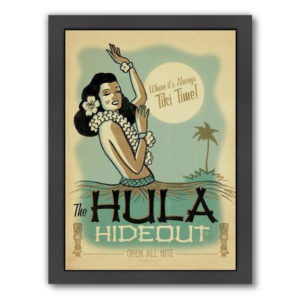 East Urban Home Hula Hide Out Framed Vintage Advertisement Wayfair