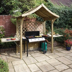 SantaBarbara 2 Seater Timber Arbour By Sol 72 Outdoor