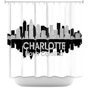 East Urban Home City IV Charlotte North Carolina Shower Curtain