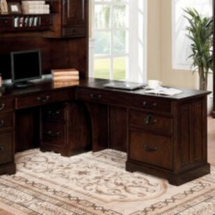 Mcelrath Transitional L-Shape Executive Desk by Charlton Home