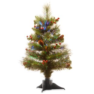 fiber optic 24 green spruce tree christmas tree