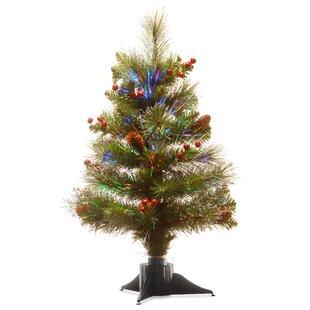 fiber optic 24 green spruce tree christmas tree
