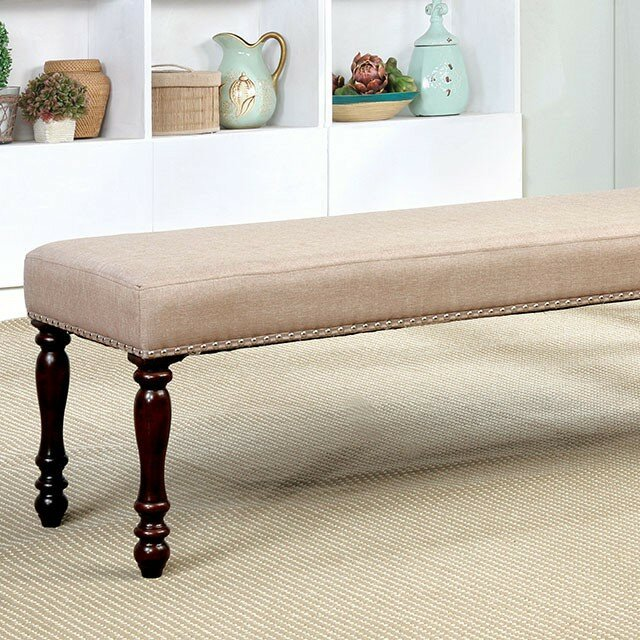 Meagan Upholstered Dining Bench