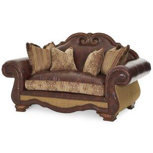 Toscano Leather Sofa by Michael Amini