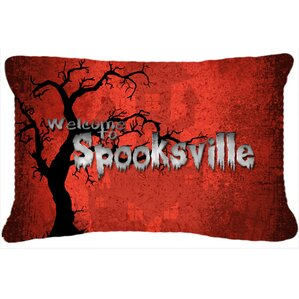 welcome to spooksville halloween indooroutdoor throw pillow - Halloween Pillows