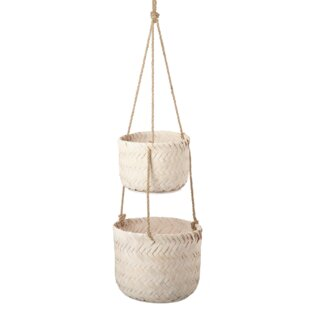 Kiro Natural Fibre Hanging Basket (Set Of 2) By House Of Hampton