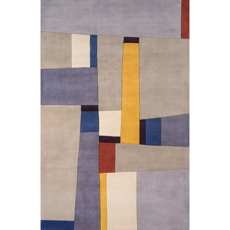Corrigan Studio Reno Hand Tufted Wool Gray Area Rug Wayfair