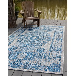 Cowell Blue/Gray Indoor/Outdoor Area Rug