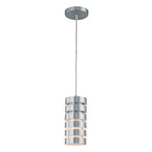 Ebern Designs Collins Metal 1-Light Cylinder Pendant