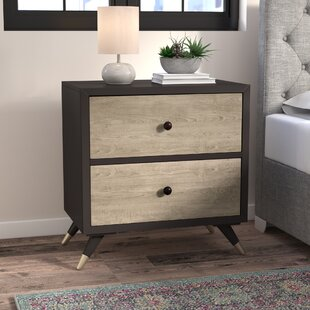 Best Gibson Mid Century 2 Drawer Nightstand by George Oliver