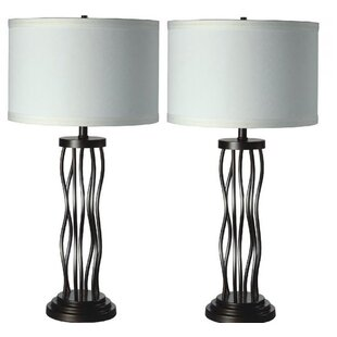 Zelin Metal Curves 30 Table Lamp (Set of 2)