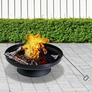 Racheal Steel Wood Burning/Charcoal Fire Pit By Belfry Heating