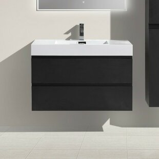 Leni 36 Wall-Mounted Single Bathroom Vanity Set by Orren Ellis