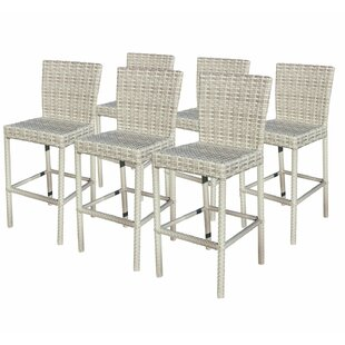 Ansonia 30 Patio Bar Stool with Square Seat (Set of 6) by Rosecliff Heights
