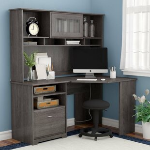 Hillsdale L- Shape Desk with Hutch