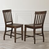 Duclos Solid Wood 24 Counter Stool (Set of 2) by Highland Dunes
