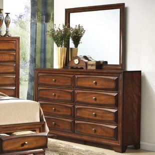 Beagan 8 Drawer Double Dresser with Mirror