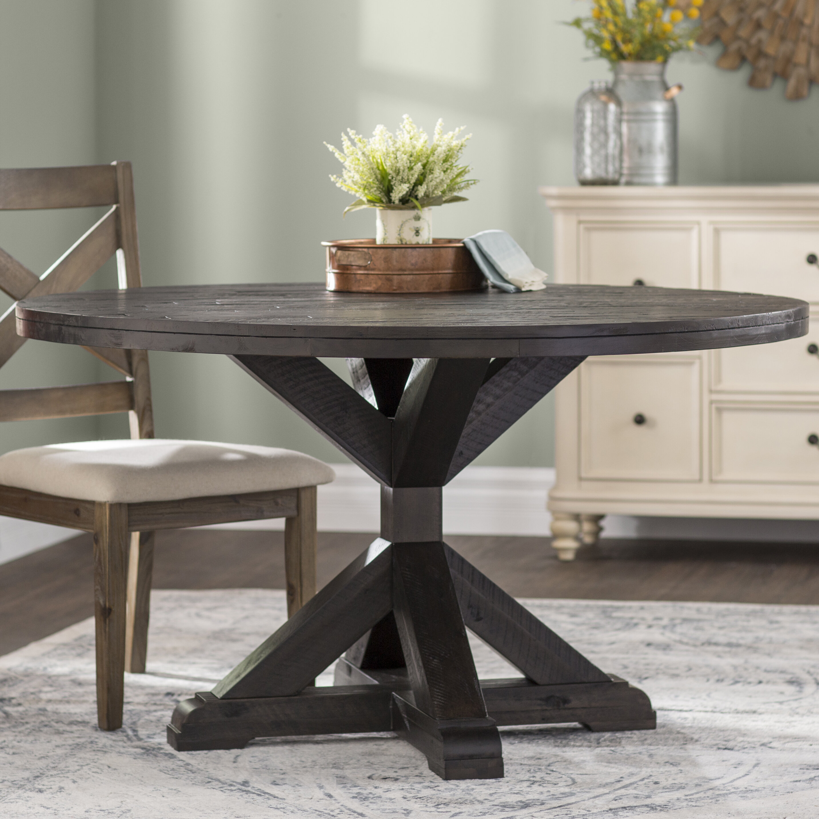 Laurel foundry modern farmhouse colborne solid wood dining table reviews wayfair