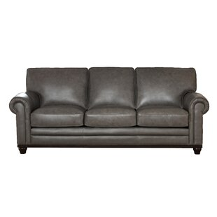 Read Reviews Stafford Leather Sofa by Westland and Birch Reviews (2019) & Buyer's Guide